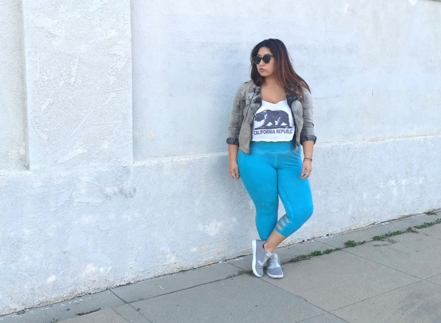 casual outfit, sporty, capri, leggings, edgy, plus size, pink lotus