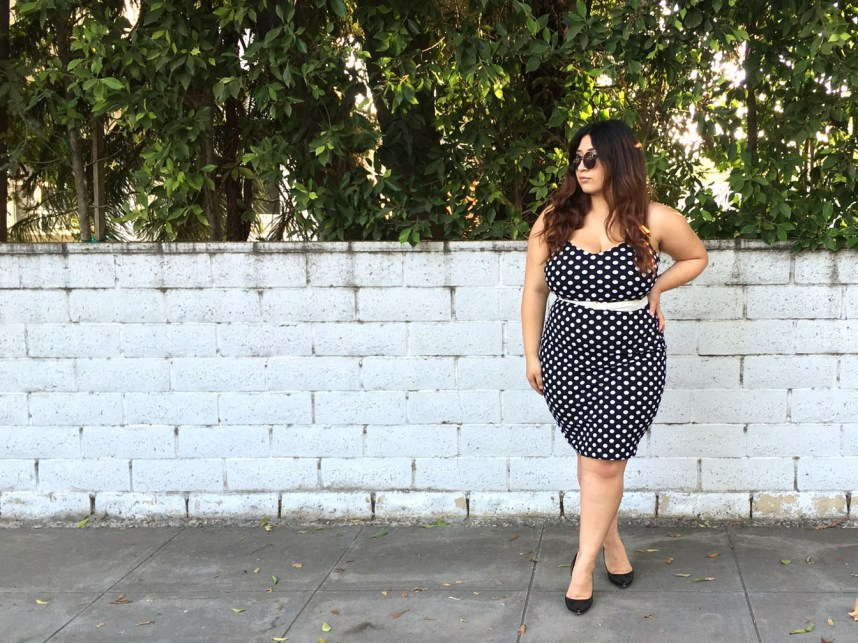 polka dots, dress, retro