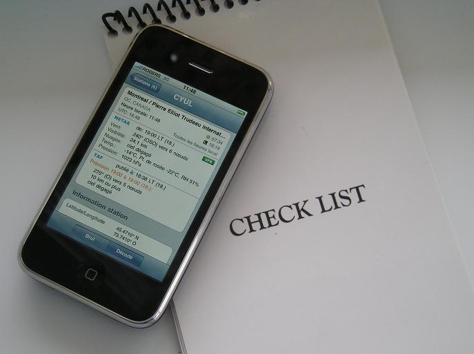 Applications iPhone pour l'aviation.