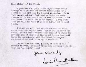 Carta que llevaba Willi Martin