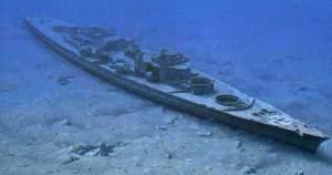 Restos del Bismarck, encontrados por el arqueólogo submarino Robert Ballard.