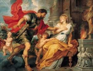 Rhea Silvia incitada por Marte. Peter Paul Rubens
