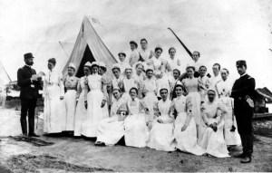 Enfermeras durante la Guerra Civil Estadounidense.