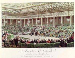 La Asamblea Nacional francesa.