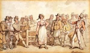 Cuando los británicos vendían a sus esposas (no hace mucho).