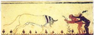 Fragmento II en la Tumba de los Toros