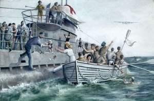 Sobrevivientes del Laconia llegan al submarino
