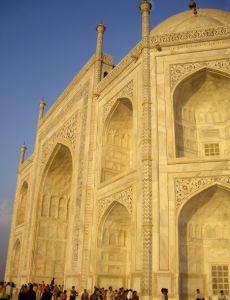 detalle Taj Mahal amarillo
