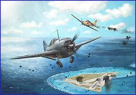 Zeros atacando Midway