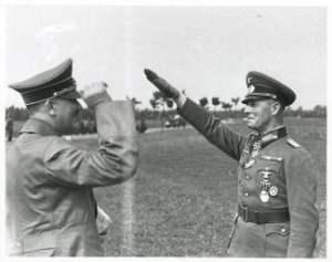 Rommel salidando a Hitler