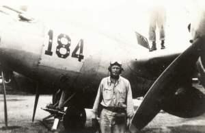 Lindbergh junto a un P-38