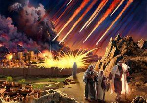 Sodoma y Gomorra destruidas