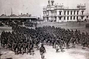 Tropas norteamericanas en el Puerto de Veracruz, 1914