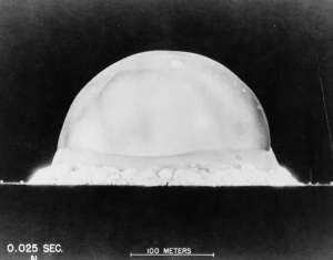 Trinity, la primera bomba nuclear de la historia.
