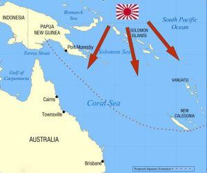 Movimientos japoneses Mar del Coral