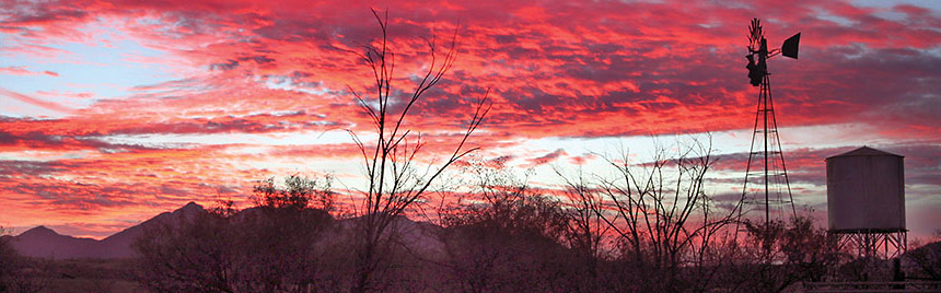 Sunset over Cienega watershed.