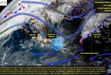 Continuarán las lluvias fuertes a muy fuertes en la Península de Yucatán