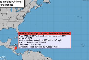 Pronóstico del tiempo para el suroeste y el Atlántico Norte tropical y Mar Caribe