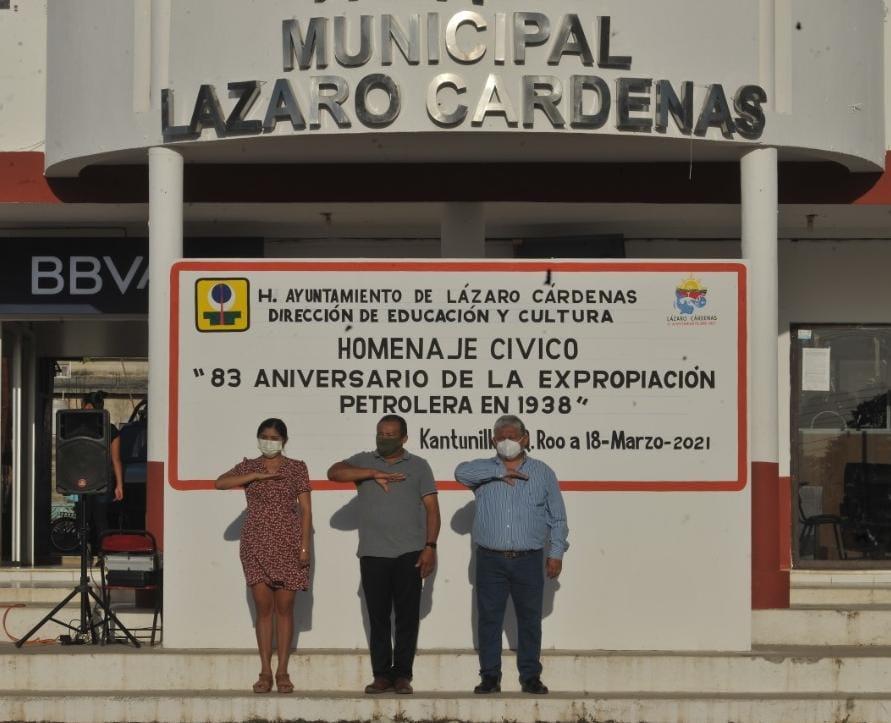 AYUNTAMIENTO DE LÁZARO CÁRDENAS CONMEMORA LA EXPROPIACIÓN PETROLERA