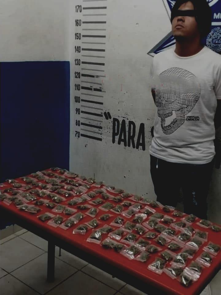 Detienen a presunto distribuidor de droga