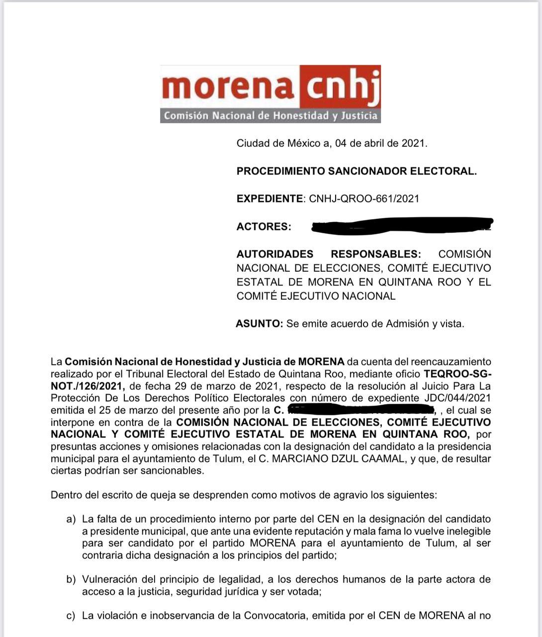 Marciano Dzul Caamal, podría ser bajado como candidato de Morena en Tulum