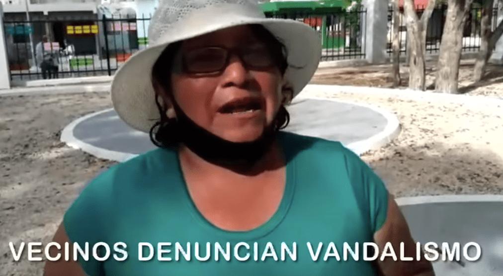 VANDALIZAN SEGUNDO PARQUE DE VILLAS DEL SOL RECIÉN INAUGURADO