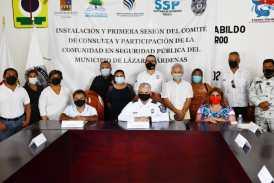 SE INSTALA EN EL MUNICIPIO EL COMITE DE CONSULTA Y PARTICIPACIÓN DE LA COMUNIDAD EN SEGURIDAD PÚBLICA