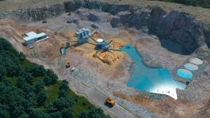 Quarry aerial view 3D CAD visualisation