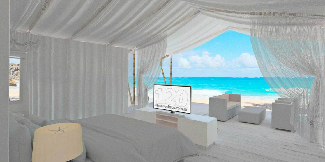 Beach hotel room tent design - view 3