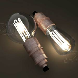 Eco filament lamp bulbs combo two shapes