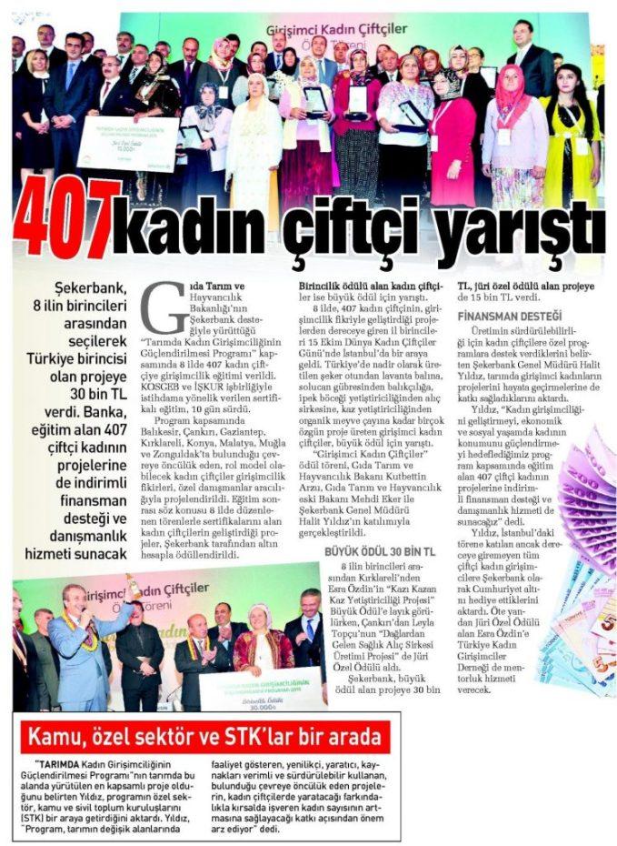 407 Kadın Çiftçi Yarıştı