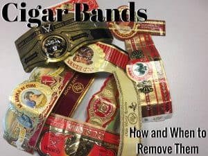Cigar Bands - How and When to remove them