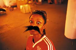 Girl with Fake Moustache