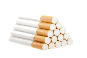 Cigarettes in a Pile