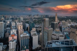 Aerial view of Makati City Philippines where a lot of jobs for senior high school graduates stays