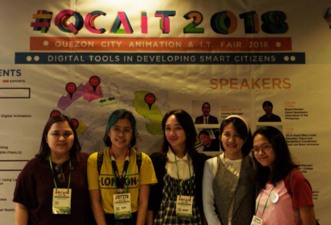 CIIT Students Smile Before the Camera during the QCAIT 2018