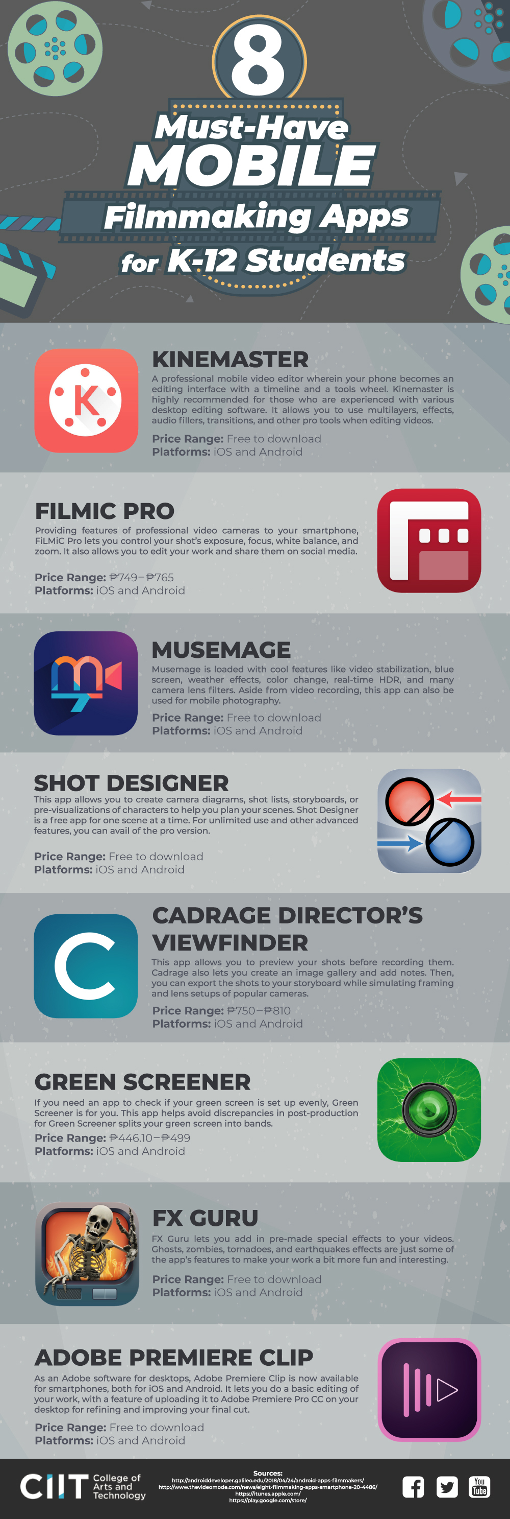 Mobile Filmmaking Apps Infographic