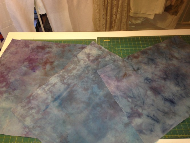 Hand dyed fabrics that didn't come out how I planned