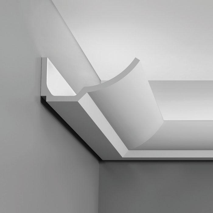 c351 corniche eclairage indirect polyurethane orac decor luxxus 8x17 5cm h x p