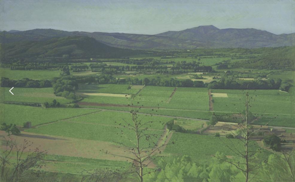 peinture, huile, papier, paysage