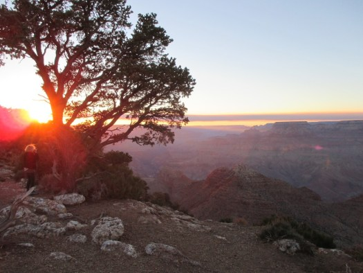 Sunset at the Grand Canyon South Rim with Chief Mate