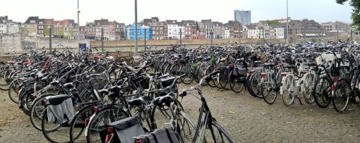 Bicycles in Maastricht, Netherlands