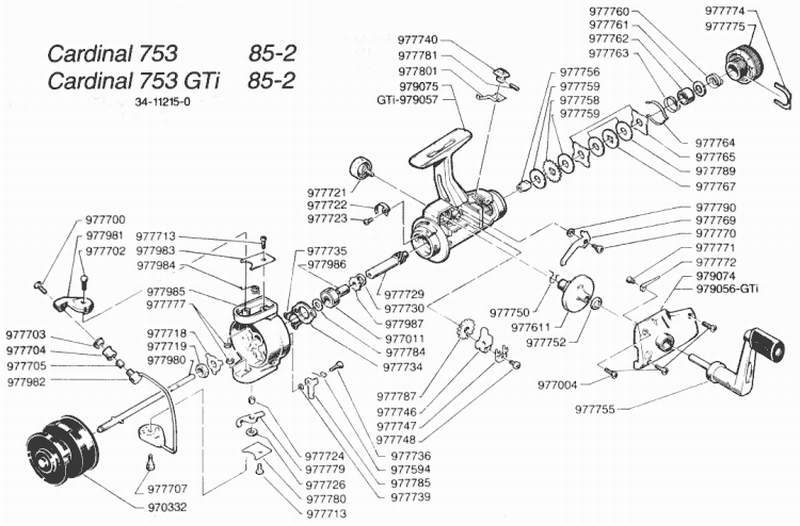 Zebco Fishing Reel Schematics