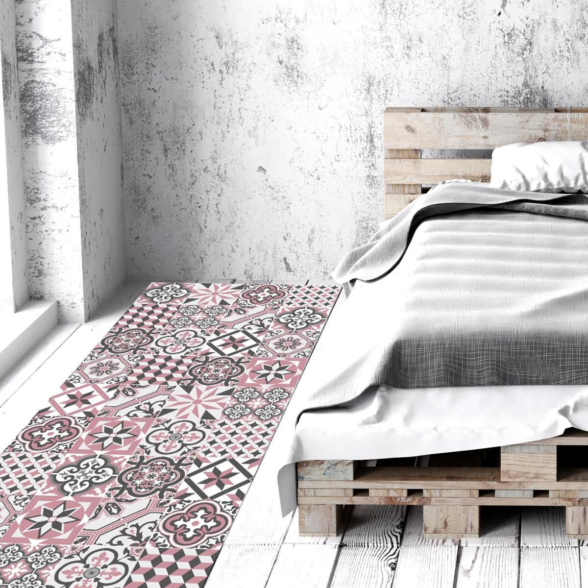 tapis vinyle carreaux de ciment ginette