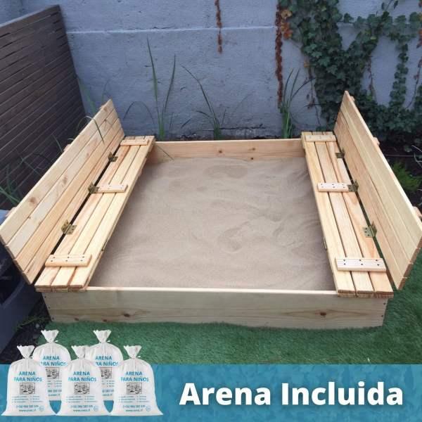 Arenero de madera caja de arena wuds.cl arena cimic arena para niños arena para jugar
