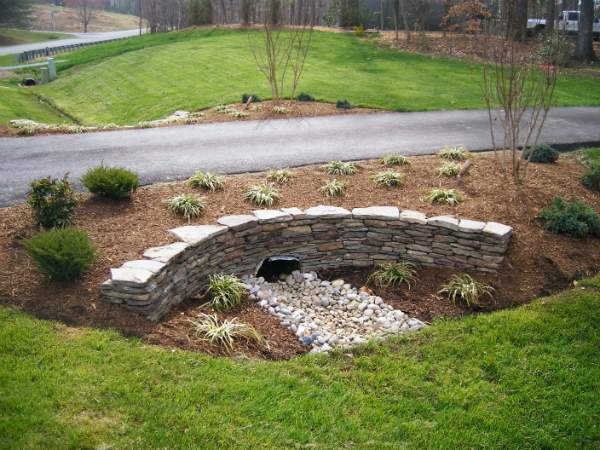 Landscaping Around Driveway Culvert Pipes