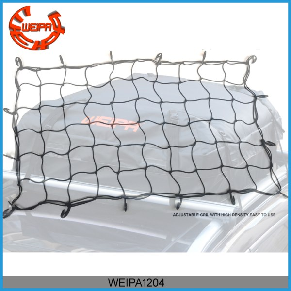 roof cargo net - Weipa Roof luggage net 36 Inch x 60 Inch with 16 Adjustable Hooks Stretches 150% Roof Cargo net