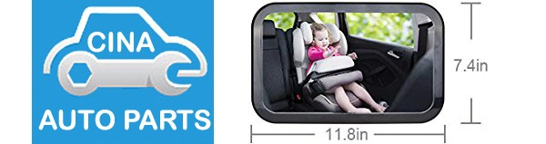 SIZE - Baby Car Mirror, Shatter-Proof Acrylic Baby Mirror for Car, Rearview Baby Mirror-Easily to Observe the Baby's Every Move Safety and 360 Degree Adjustability