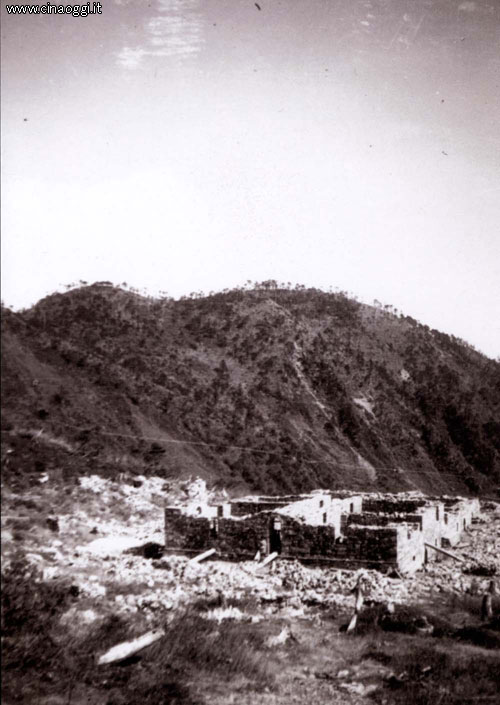 Summer 1938: view of the hospice at the Latsa pass