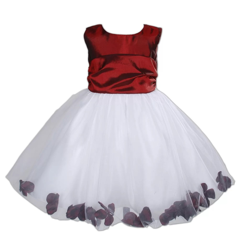 Flower Girl Party Dress Burgundy Hot Pink